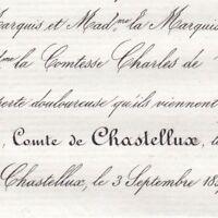 Amédée Gabriel Henri De Chastellux Yonne 1857