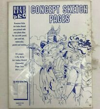"Blue Line Pro Concept Sketch Pages 8.5""x11"" - 25 pages"