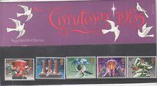 GB 1983 Navidad presentación Pack 148 SG 1231 1235 conjunto de sello de menta