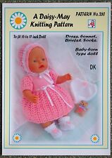 1 DOLLS KNITTING PATTERN to fi BABY BORN or 16/17ins doll No 260 - Val young