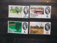 GB 1964 Commemorative Stamps~Geographical~Phosphor~Fine Used Set~UK Seller