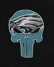 EAGLES Punisher Skull Rockabilly Motorcycle Biker Patch - Iron ON