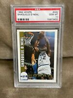 SHAQUILLE O'NEAL⚡️1992-93 NBA Hoops #442 Rookie PSA 10 GEM MINT RC🔥Magic HOT