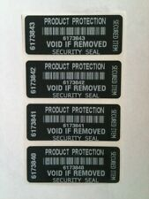 250 Tamper-Evident Security Labels Stickers Product Protection Void if Removed