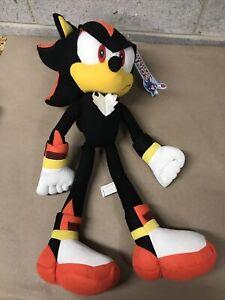 """Sonic The Hedgehog Shadow 19"""" Plush - Kellytoy (2009) - w/ Tag - Free Shipping"""