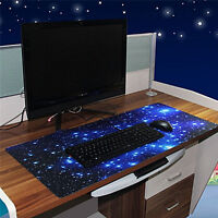 Large Galaxy Anti-Slip Laptop Computer Gaming Large Mouse Pad Keyboard Mat SW_Q