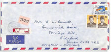 BT168 1962 Indonesia *Bandung* REGISTERED EXPRESS Airmail Cover {samwells}