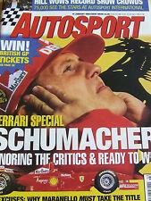AUTOSPORT MAGAZINE JAN 15 1998 HILL WOWS RECORD SHOW CROWDS FERRARI SPECIAL