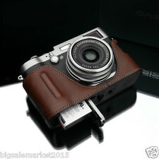 New GARIZ BL-X100BR Leather Grip Half Case Bag Cover Brown For FUJI X100T X100S