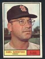 1961 Topps #198 Carl Sawatski EX+ Cardinals 59130