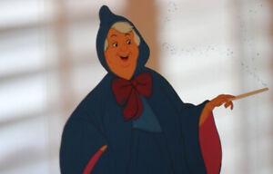 Walt Disney Archives CINDERELLA Fairy Godmother Animation Sericel 2003 1950