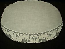 4 Vintage Madeira Organza Shadow Work Holly Motif Table Placemats