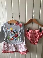 Baby Girl's Clothes 9-12 Months - Disney's Minnie Mouse 2pc Dress Set Cute!!
