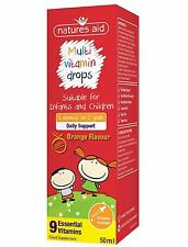 Natures Aid Multi-Vitamin Drops for 3+months Infants and 5 years Children 50ml