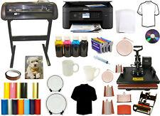 8in1 Combo Heat Press Dye Sublimation Printer 28 1000 Metal Vinyl Cutter Plotter