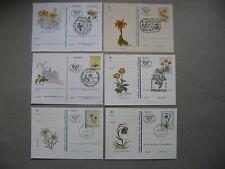 AUSTRIA, 6x privat ill. PC FDC CTO 1987/94, flowers ao edelweis