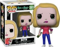 NEW Funko Pop! Animation Rick and Morty BETH with wine glass Vinyl Figure  #301
