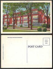 Old Linen Postcard - Norwich, New York - High School