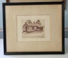 GENERAL GRANT'S Civil War Headquarters Cabin Print City Point Virginia, Framed