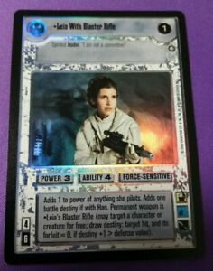 Star Wars CCG - Reflections II Box Topper - Leia with Blaster Rifle (FOIL)