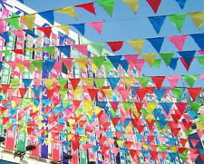 10m Party Rainbow Bunting Large Kids Birthday Outdoor Triangular Flags Banner