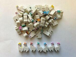 60 Mini llama Shaped Erasers Teacher Supply Sorting Math Counter Rewards