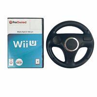 Mario Kart 8 (Nintendo Wii U, 2014) & Racing Wheel- No Manual Included- Tested