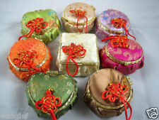 wholesale 10pcs CHINESE HANDMADE CLASSIC SILK jewelry boxes