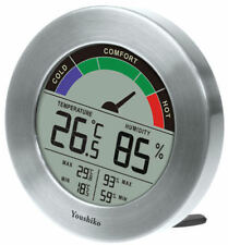 Youshiko Digital Thermometer Hygrometer With Comfort Level Display & MAXIMUM