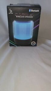 Carbon Wireless Speaker LED Color Changing Pink Blue Green