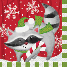 16 x Woodland Christmas Party Paper Napkins Lunch Size 33 x 33cm