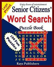 Senior Citizens' word search puzzle book (Volume 1), Rays Publishers, Good Book