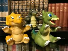 Lot of 3 The Land Before Time Hand Puppets - 1988 Amblin - Pizza Hut Promo Toys