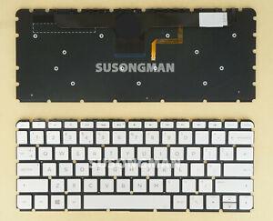 New UK For HP ENVY 13-ab002na 13-ab003na 13-ab004na Keyboard Backlit Silver