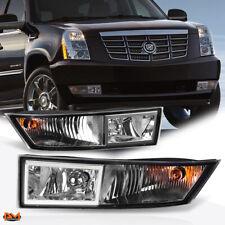 For 07-14 Cadillac Escalade ESV/EXT Clear Lens Fog Light/Lamp W/Bezel+Bulb Pair
