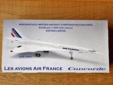1:200 Hogan Wings LES AVIONS AIR FRANCE Concorde 1976-2003 30cm Edition limitée