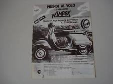 advertising Pubblicità 1984 VESPA PX 125 e WIMPEX
