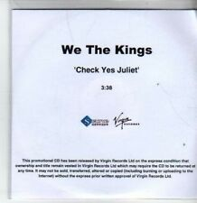(BT368) We The Kings, Check Yes Juliet - DJ CD