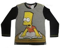 Boys Bart Simpson Long Sleeve Cotton T-shirt Top Ages 2-8 Years