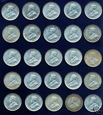 AUSTRALIA  GEORGE V  1927  1 SHILLING COINS, LOT OF (25), GRADE: ALMOST XF