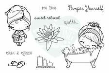 ME TIME ANYA-The Greeting Farm Cling Mount Rubber Stamp-Stamping Craft-RETIRED
