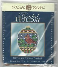 Christmas Beaded Holiday Ornament Crimson Cardinal Mill Hill