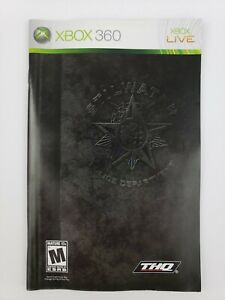 Saints Row Original Xbox 360 2006 Authentic Manual Booklet ONLY Clean