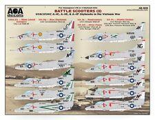 AOA decals 1/48 BATTLE SCOOTERS 3 A-4C, A-4E, & A-4F Skyhawks in the Vietnam War