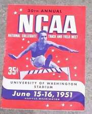 NCAA COLLEGE TRACK and FIELD CHAMPIONSHIPS PROGRAM - 1951
