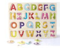Puzzle en Bois Enfant Jeux éducatifs Lettre Majuscule Jouet Cadeau pour Bébé