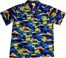"Hawaiian Shirt ""Summer Beach (dark blue)"" / M-6XL / Mens Hawaian Shirts / Hawaii"
