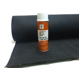 4ft x 15ft Black Speaker Box Carpet + Spray Adhesive