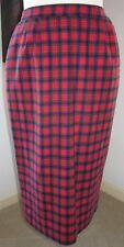 """Pendleton Vintage Authentic Macduff Tartan Plaid Pleated Skirt Size 6 26"""" Waist"""