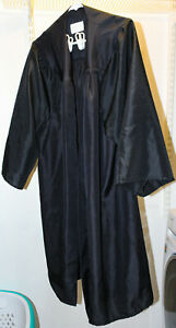 """Jostens Black Graduation Cap & Gown (5'1""""-5'3"""") - Good Condition"""